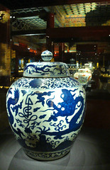 china ceramics - blue dragons