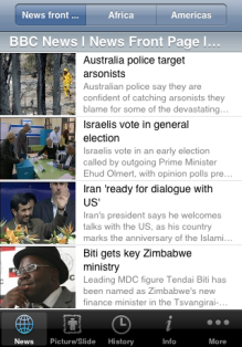 BBC Reader iPhone app