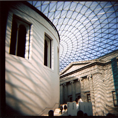 The Great Court (Simon-K) Tags: uk london film museum lomo lomography triptych diana f british britishmuseum dianaf greatcourt londonist bo09