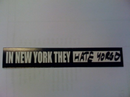 in New York they hate yorgo sticker bike polo