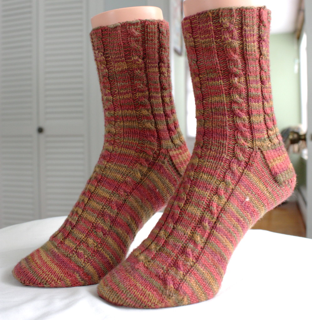 Gold Hill Cable Rib Socks