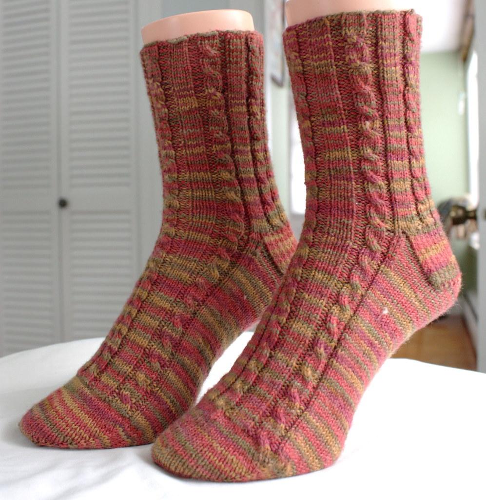 Gold Hill Cable Rib Socks
