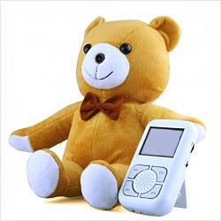 Wireless Baby Monitor - 2.4GHz, Bear-shaped Camera, 2.5-inch LCD Screen [Model #: BBM-004-2WH]