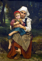 Breton Brother and Sister, Bouguereau, 1871 (Tiz_herself) Tags: ny newyork art paintings museums themet array