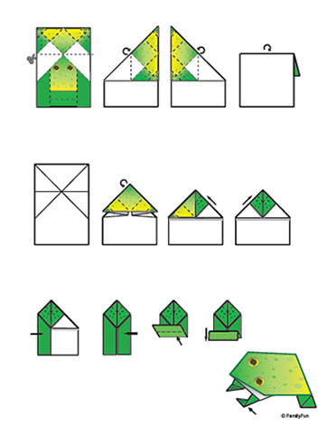 Free Printable Crafts - Printable Origami: Jumpin' Frog