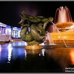 Colors of London Trafalgar Square at Night