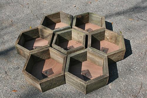 Hexagonal centerpiece boxes