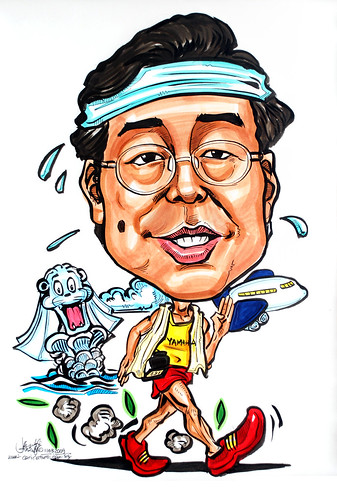 Caricature for Yamaha pace walking