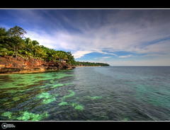 Initao Midway White Beach | Front Page (rev_adan) Tags: blue sunset sea white seascape green beach clouds landscape sand skies philippines deep palm resort clear explore oriental midway rev frontpage hdr corals mindanao revo misamis initao