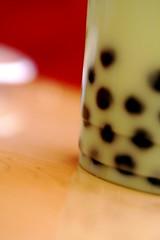 bubble tea with tapioca pearls