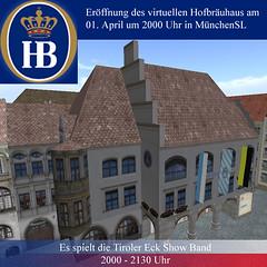 Eröffnung des virtuellen Hofbräuhaus in München in Second Life