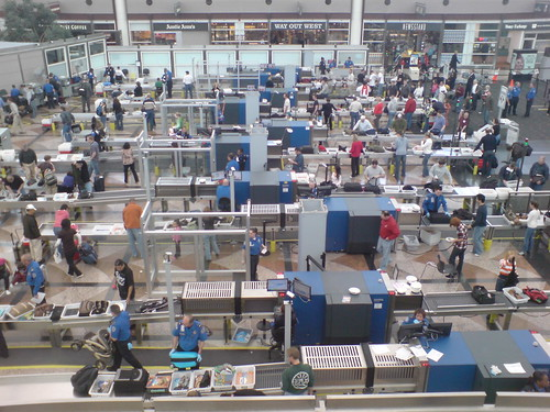 Security Screening at Denver Airport, by Flickr user Dan Paluska, Creative Commons: Attribution 2.0.