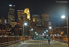 Minneapolis Skyline & Stone Arch Bridge, 19 Feb 2009 (photography.by.ROEVER) Tags: nightphotography trip winter vacation minnesota skyline night buildings skyscrapers minneapolis roadtrip twincities february 2009 1000views wellsfargocenter downtownminneapolis stonearchbridge northstarblankets 225southsixth hennepincounty nightphotograph minneapolisskyline skylineatnight capellatower nightimagery