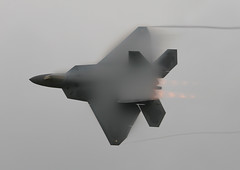 F22Vapour2RIAT08WEBNB (PhoenixFlyer2008) Tags: aircraft military raptor f22 burner vapour riat raffairford
