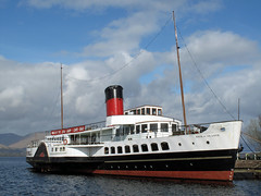 """Maid of the Loch"",  Loch Lomond, Balloch,  Scotland (David May) Tags: heritage scotland paddle steamer balloch lochlomond maidoftheloch lochlomondtrossachsnationalpark"