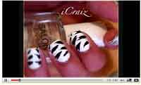 zebra stripe print nail design tutorial guide