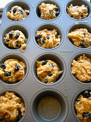 muffin batter hits the oven!