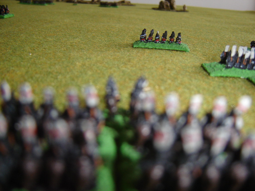 Chosokabe on far right flank