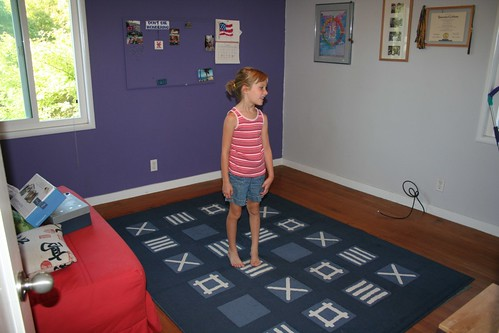 Zoe in her new room