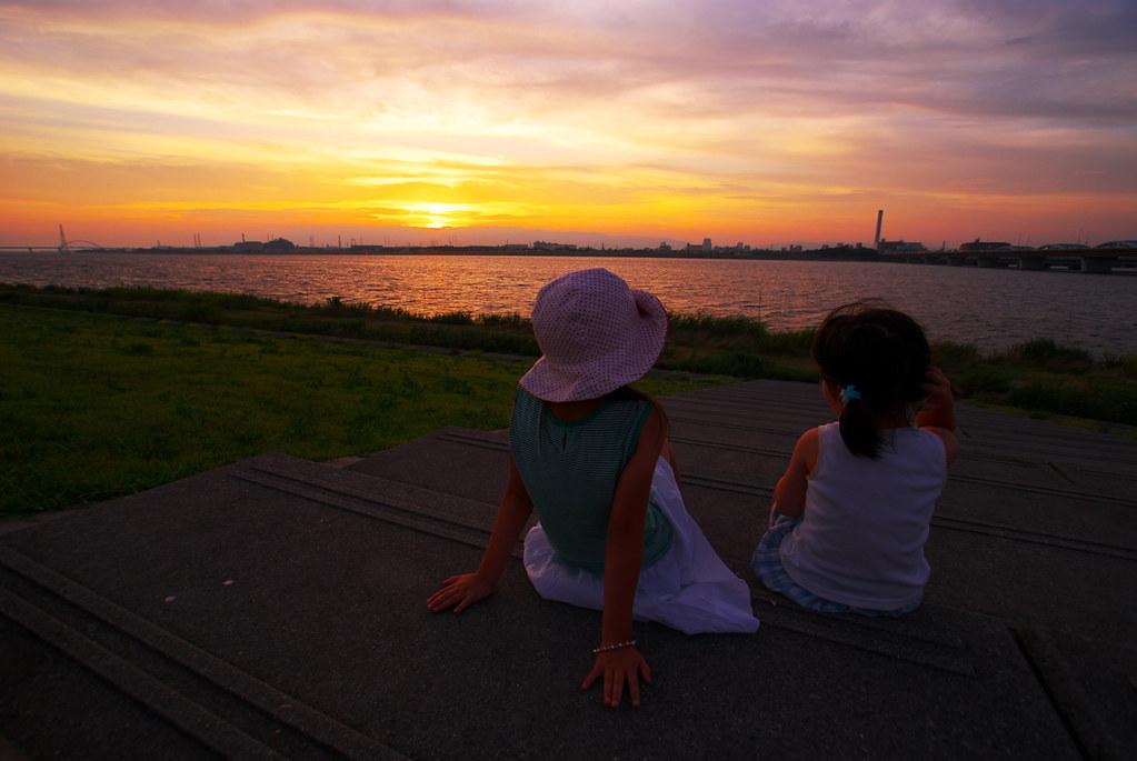 姉妹、淀川。