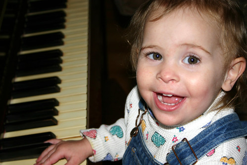 jamey playing piano 18 mths 2