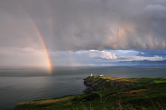 Where The Rainbow Begins (Janek Kloss) Tags: ireland howth dublin lighthouse storm port bay rainbow baily