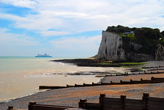 Sailing into Dover as Viewed from St Margaret's-at-Cliffe (antonychammond) Tags: uk sea england beach beautiful ferry kent britain cliffs channel dover groynes stmargaretsbay blueribbonwinner supershot firsttheearth stmargaretatcliffe worldtrekker absolutelystunningscapes dragondaggeraward virtualjourney thisismypostcardcountryorcitynotpeople