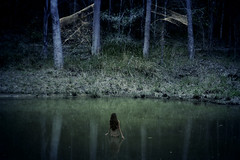 still (Rebecca Nathan) Tags: woman lake water forest woods magical spiderwebs enchanted
