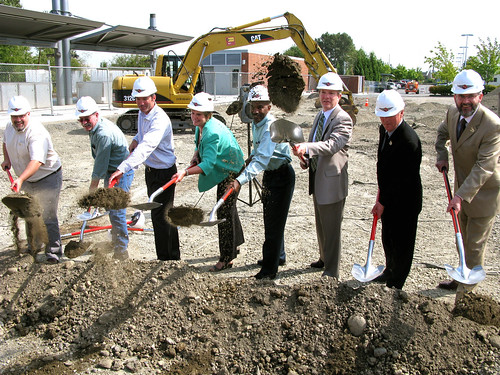 Transit dignitaries break ground for BRT terminal