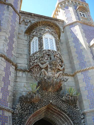 La estatua de Tritón del Palacio da Pena.