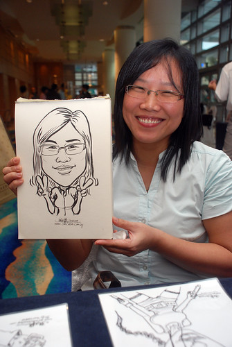 Caricature live sketching for SMC Teachers'Day D&D 2009 - 2