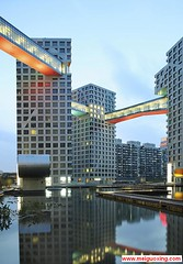 Beijing Linked Hybrid by Steven Holl   (Meiguoxing) Tags: china building green architecture modern design beijing moma steven   architects  peking attraction holl sustainable pkin pechino     ecofrieldly