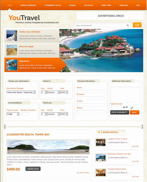You Travel   Joomla Travel Template