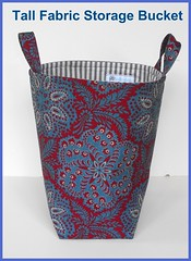 Tall Fabric Storage Bucket - Ralph Lauren Floral