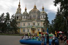 Panfilov Park, Almaty (becklectic) Tags: girls church boys kids cathedral centralasia kazakhstan 2009 almaty panfilovpark zenkov views100 almaata worldtrekker 20090706dsc7796