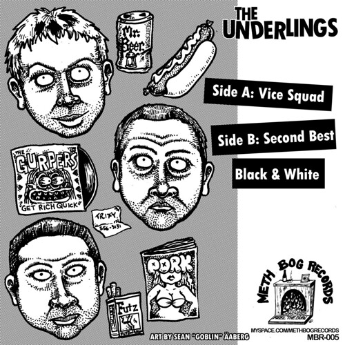 "The Underlings 7"" back cover."