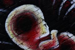 Unique (shadamai) Tags: urban streetart graffiti downtown asheville unique bricks fetus riverartsdistrict flickrchallengegroup