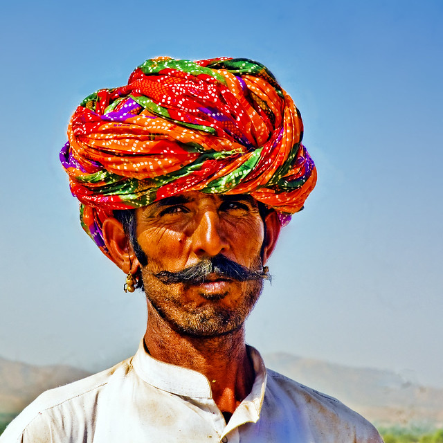 Portrait of a Camel Buyer at Pushkar !