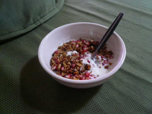 Pomegranate breakfast