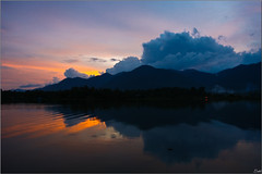 Missing you (Lohb) Tags: sunset mountain lake reflection clouds relax hometown malaysia miss 1740 perak outoftown raban canon40d