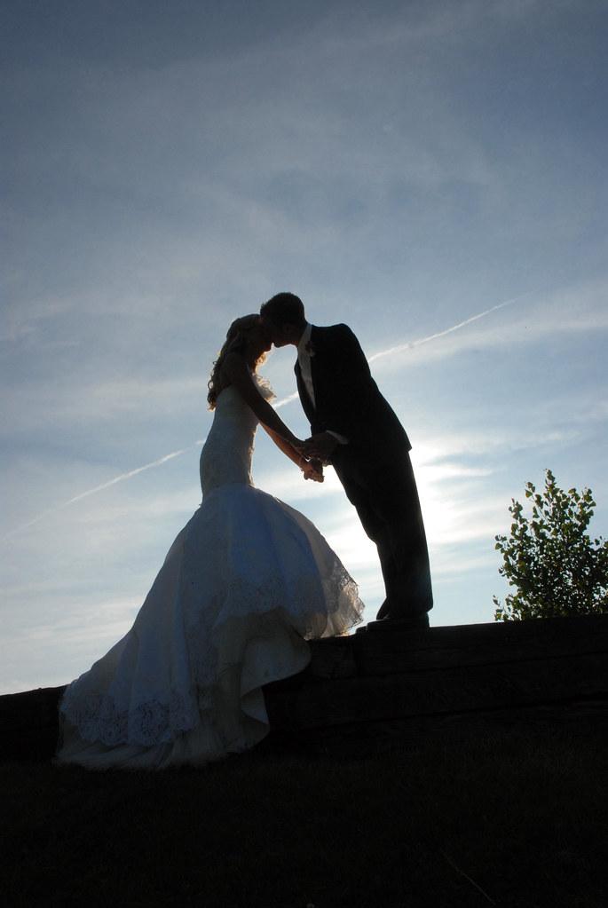 Bliss Weddings - sunset bride & groom