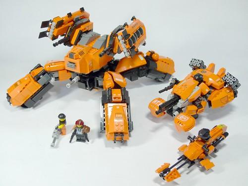 Orange Lego robot mocs