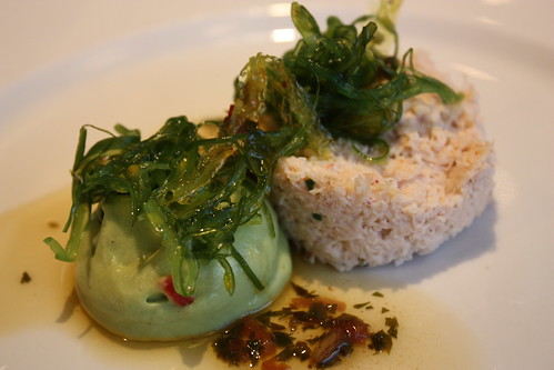 Crab and Avocado mousse.