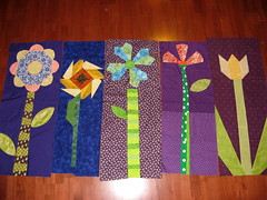 All of Carrie's flower rows (Cut To Pieces) Tags: flower quilt row rowrobinquiltalong