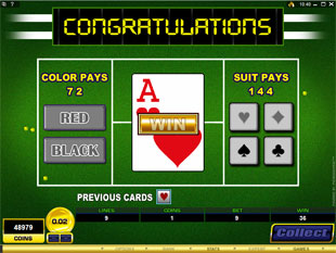 free Centre Court gamble bonus game