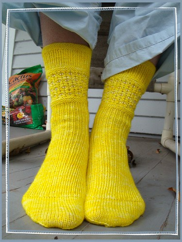yellow sparkle socks