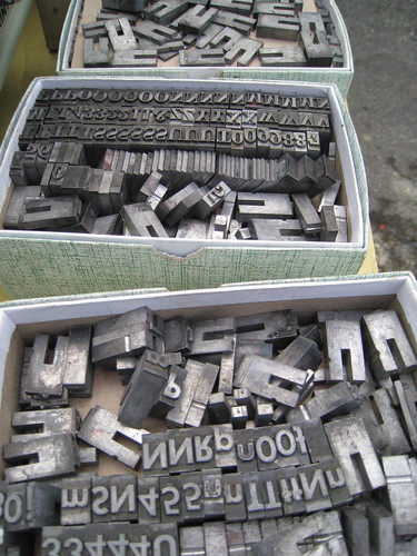 Boxes of Metal Type