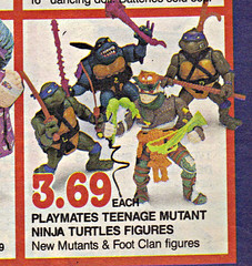 "Children's Palace - ""GRAND OPENING, All Stores Celebrate"" { Colorado Springs C.P. }  Sunday Newspaper supplement .. pg.1 // TMNT figs (( October 28,1990 ))"