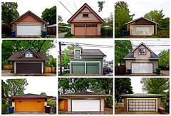 Oak Park Garages (paul drzal) Tags: chicago canon illinois typology garages oakparkillinois eskepe tse17mm oakparkgarages garagetypology detachedstructures