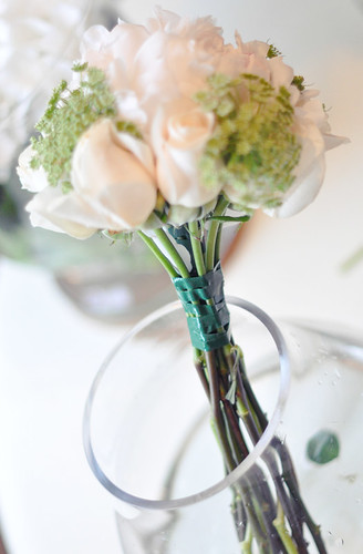 DIY White and green wedding bouquet 4